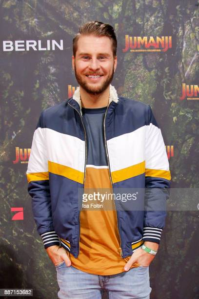 German presenter Maurice Gajda attends the German premiere of 'Jumanji Willkommen im Dschungel' at Sony Centre on December 6 2017 in Berlin Germany