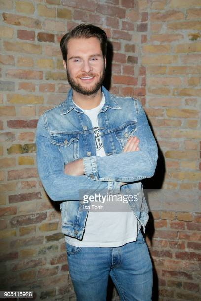 German presenter Maurice Gajda during the Bunte New Faces Night at Grace Hotel Zoo on January 15 2018 in Berlin Germany