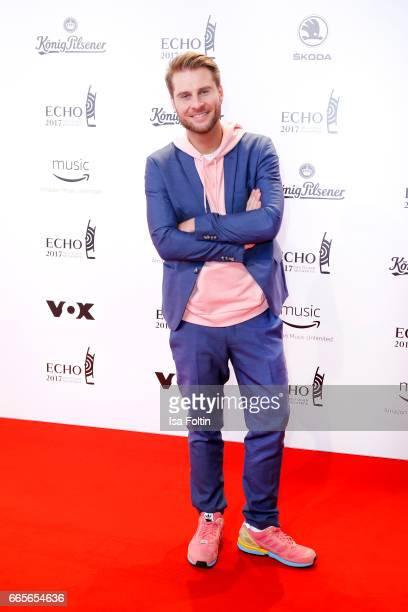 German presenter Maurice Gajda during the Echo award red carpet on April 6 2017 in Berlin Germany