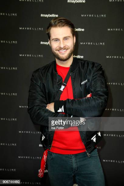 German presenter Maurice Gajda during the Maybelline Show 'Urban Catwalk - Faces of New York' at Vollgutlager on January 18, 2018 in Berlin, Germany.