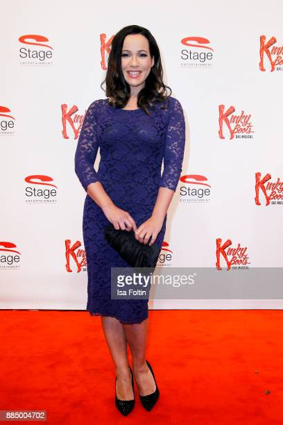 German presenter Nandini Mitra attends the 'Kinky Boots' Musical Premiere at Stage Operettenhaus on December 3 2017 in Hamburg Germany
