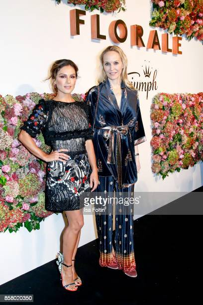 German presenter Nazan Eckes and Anne MeyerMinnemann chief editor Gala magazine Germany attend the Florale By Triumph Dinner Hosted By Julianne Moore...