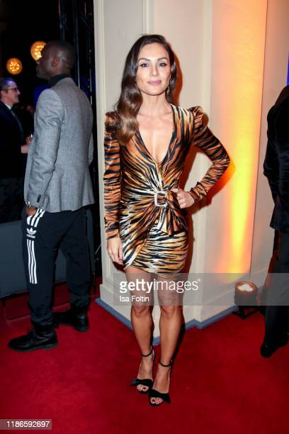 German presenter Nazan Eckes attends the GQ Men of the Year Award after show party at Komische Oper on November 7, 2019 in Berlin, Germany.