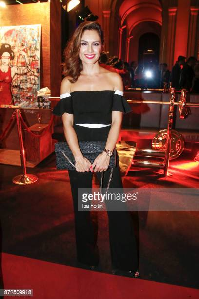 German presenter Nazan Eckes attends the GQ Men of the year Award 2017 after show party at Komische Oper on November 9 2017 in Berlin Germany