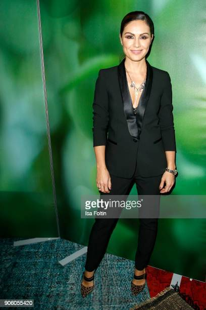 German presenter Nazan Eckes attends the Thomas Sabo Press Cocktail during the MercedesBenz Fashion Week Berlin A/W 2018 at China Club on January 17...