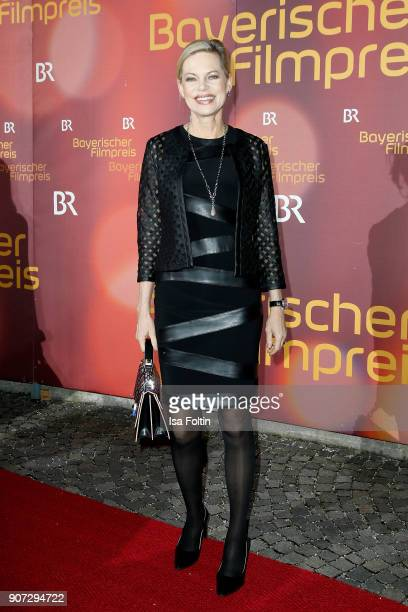 German presenter Nina Ruge attends the Bayerischer Filmpreis 2017 at Prinzregententheater on January 21 2018 in Munich Germany