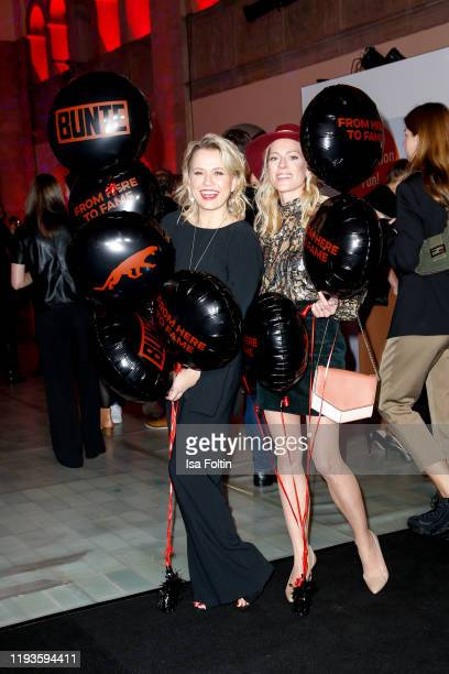 German presenter Nova Meierhenrich and German actress Nele Kiper attend the Bunte New Faces Night at Hotel Oderberger on January 13 2020 in Berlin...