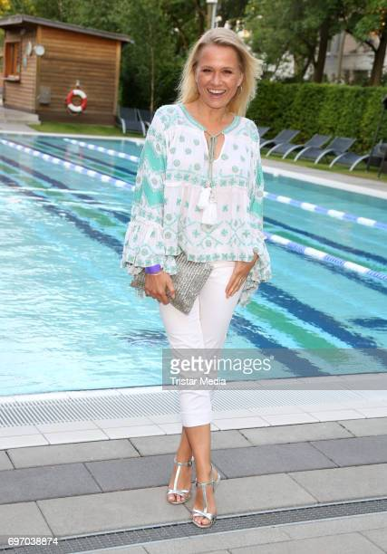 German presenter Nova Meierhenrich attends the Aspria Sommerparty on June 17 2017 in Hamburg Germany