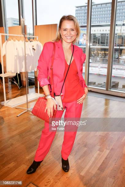 German presenter Nova Meierhenrich attends the InStyle Lounge Opening Brunch/Open House at Cafe Moskau on January 16 2019 in Berlin Germany