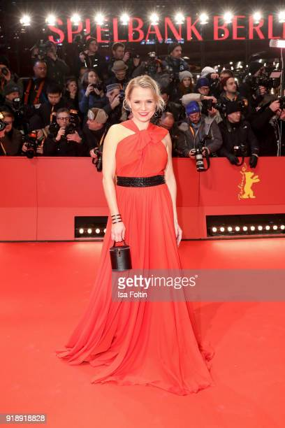 German presenter Nova Meierhenrich attends the Opening Ceremony 'Isle of Dogs' premiere during the 68th Berlinale International Film Festival Berlin...