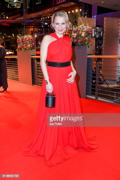 German presenter Nova Meierhenrich attends the opening party of the 68th Berlinale International Film Festival Berlin at Berlinale Palace on February...