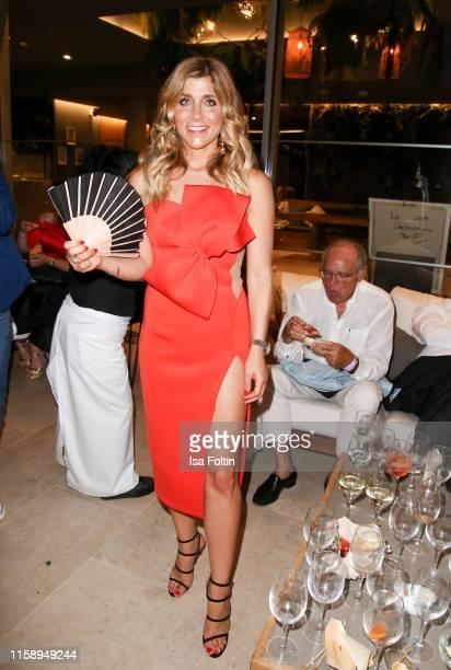 German presenter Panagiota Petridou attends the Remus Lifestyle Night on August 1 2019 in Palma de Mallorca Spain