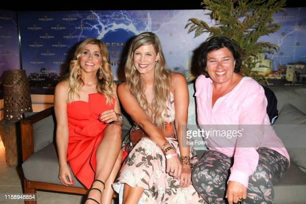 German presenter Panagiota Petridou German presenter Verena Wriedt and German presenter Vera IntVeen attend the Remus Lifestyle Night on August 1...