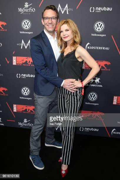 German presenter Peter Imhof and his wife German presenter Eva Imhof attend the New Faces Award Film at Spindler Klatt on April 26 2018 in Berlin...