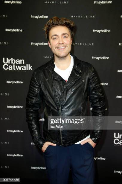 German presenter Philipp Isterewicz during the Maybelline Show 'Urban Catwalk Faces of New York' at Vollgutlager on January 18 2018 in Berlin Germany
