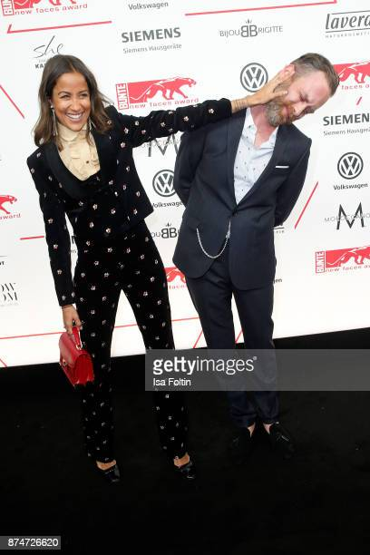 German presenter Rabea Schif and her husband David Gergely attend the New Faces Award Style 2017 at The Grand on November 15 2017 in Berlin Germany