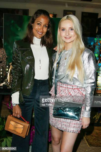 German presenter Rabea Schif and model Anna Hiltrop attend the Thomas Sabo Press Cocktail during the MercedesBenz Fashion Week Berlin A/W 2018 at...
