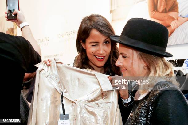 German presenter Rabea Schif at the Vestiaire Collective and Toni Garrn Charity Sale Opening on November 2 2017 in Berlin Germany