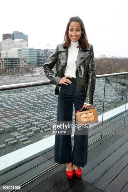German presenter Rabea Schif attends the Thomas Sabo Press Cocktail during the MercedesBenz Fashion Week Berlin A/W 2018 at China Club on January 17...