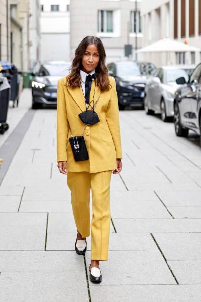 DEU: Street Style At Frankfurt Fashion Week 2021