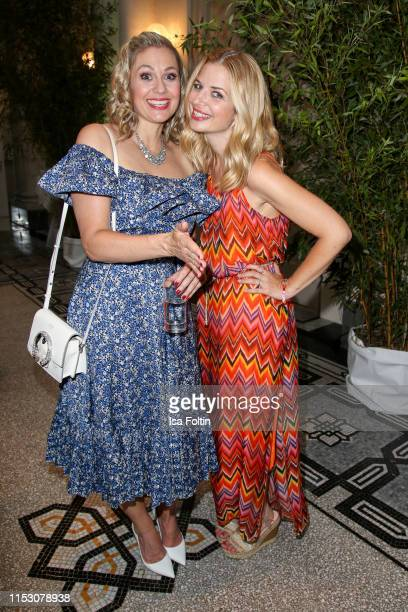 German presenter Ruth Moschner and German actress Susan Sideropoulos during the TwoTell Ladiesdinner 2019 at Hotel De Rome on June 30 2019 in Berlin...