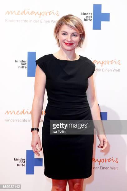 German presenter Sabine Heinrich attends the 19th Media Award by Kindernothilfe on November 3 2017 in Berlin Germany