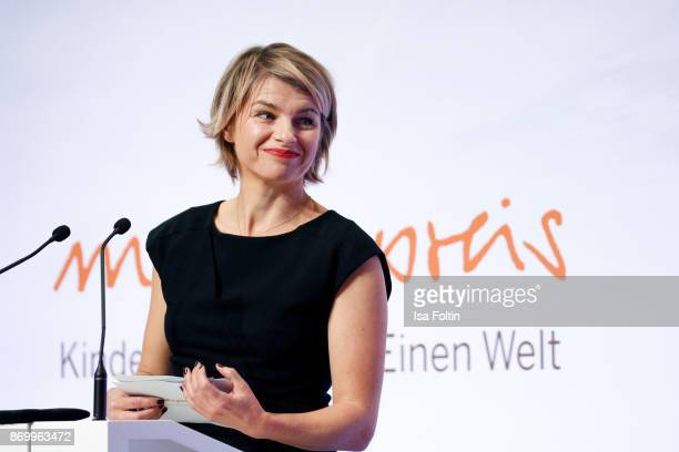 German presenter Sabine Heinrich during the 19th Media Award by Kindernothilfe on November 3 2017 in Berlin Germany