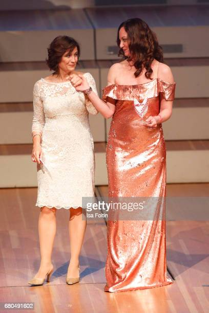 German presenter Sandra Maischberger and german actress and award winner Natalia Woerner during the Victress Awards Gala on May 8 2017 in Berlin...