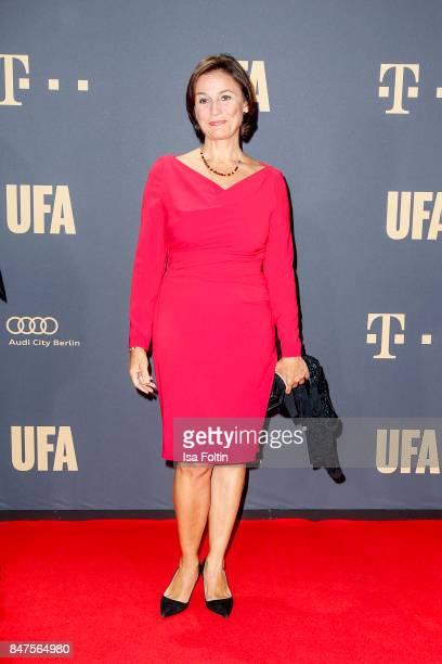 German presenter Sandra Maischberger attends the UFA 100th anniversary celebration at Palais am Funkturm on September 15 2017 in Berlin Germany