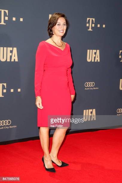 German presenter Sandra Maischberger attends the UFA 100th anniversary celebration at Palais am Funkturm on September 15 2017 in Berlin Germany