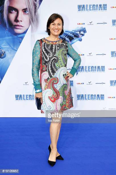 German presenter Sandra Maischberger during the 'Valerian Die Stadt der Tausend Planeten' premiere at CineStar on July 19 2017 in Berlin Germany