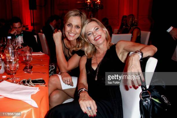 German presenter Sandra Maria Gronewald and German presenter Nina Ruge attend the 10th VITA Charity Gala at Kurhaus Wiesbaden on October 26 2019 in...