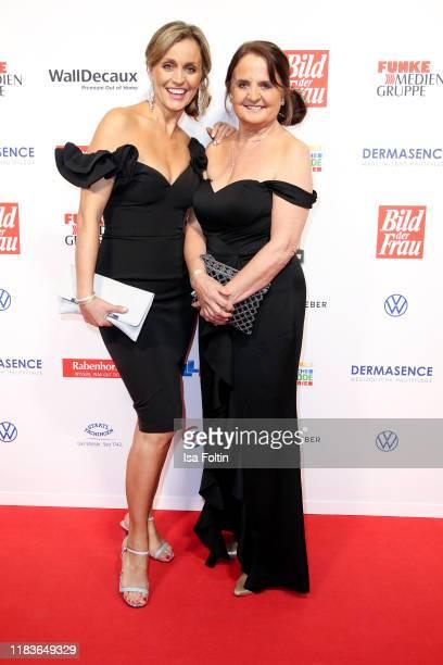 German presenter Sandra Maria Gronewald and her mother Marianne Meyer attend the annual Goldene Bild der Frau award on October 23 2019 in Hamburg...