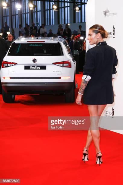 German presenter Sophia Thomalla during the Echo award red carpet on April 6, 2017 in Berlin, Germany.