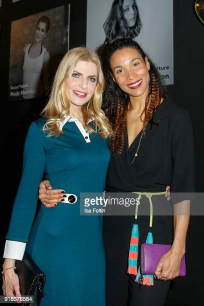 German presenter Tanja Buelter and German presenter Annabelle Mandeng during the Young ICONs Award in cooperation with ICONIST at BRLO Brwhouse on...