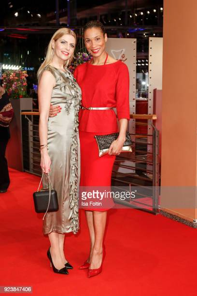 German presenter Tanja Buelter and German presenter Annabelle Mandeng attend the closing ceremony during the 68th Berlinale International Film...