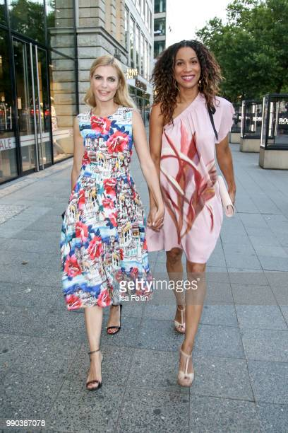 German presenter Tanja Buelter and German presenter Annabelle Mandeng during the Bunte New Faces Night at Grace Hotel Zoo on July 2 2018 in Berlin...