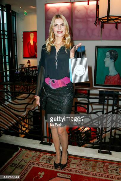 German presenter Tanja Buelter attends the Thomas Sabo Press Cocktail during the MercedesBenz Fashion Week Berlin A/W 2018 at China Club on January...