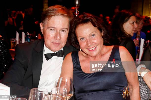 German presenter Ulrich Meyer and his wife Georgia Tornow attend the aftershow party during during the 24th Opera Gala at Deutsche Oper Berlin on...