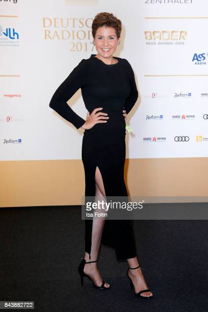German presenter Vanessa Blumhagen attends the 'Deutscher Radiopreis' at Elbphilharmonie on September 7 2017 in Hamburg Germany