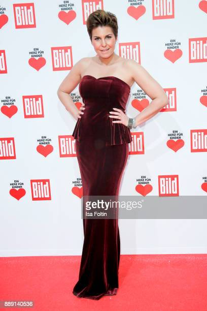 German presenter Vanessa Blumhagen attends the 'Ein Herz fuer Kinder Gala' at Studio Berlin Adlershof on December 9 2017 in Berlin Germany