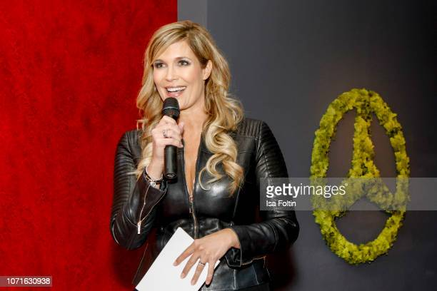 German presenter Verena Wriedt during the event 'FechtOlympiasiegerin fliegt mit Daimler Kunstflugass Revanche beim Club der jungen Wilden at Q Salon...