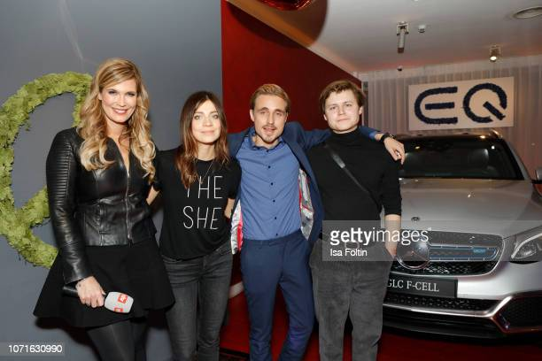 German presenter Verena Wriedt German actress Claudia Eisinger German actor Constantin von Jascheroff and German actor Tom Boettcher during the event...