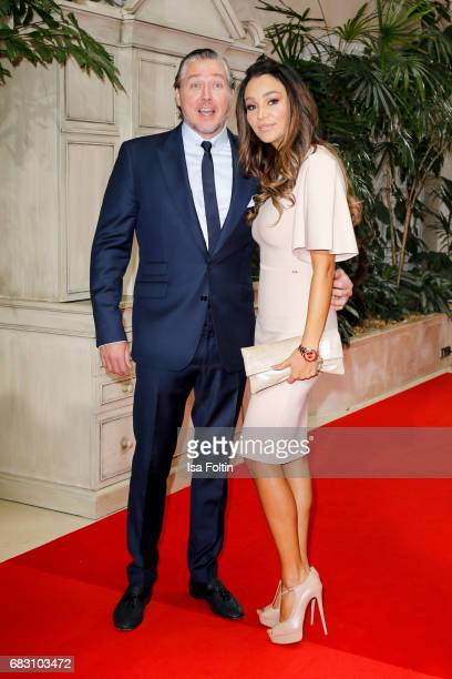 German presenter Verona Pooth and her husband Franjo Pooth attend the Felix Burda Award 2017 at Hotel Adlon on May 14 2017 in Berlin Germany