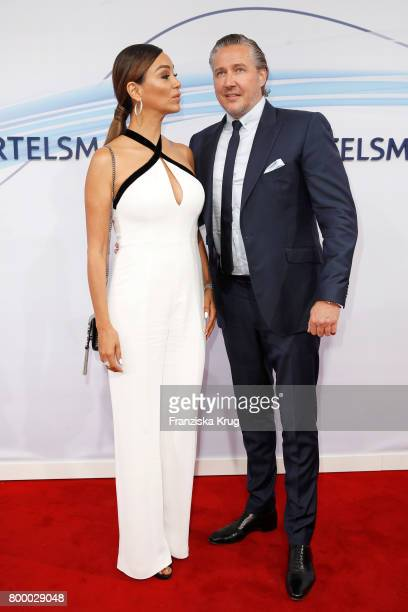 German presenter Verona Pooth and her husband Franjo Pooth attend the 'Bertelsmann Summer Party' at Bertelsmann Repraesentanz on June 22 2017 in...
