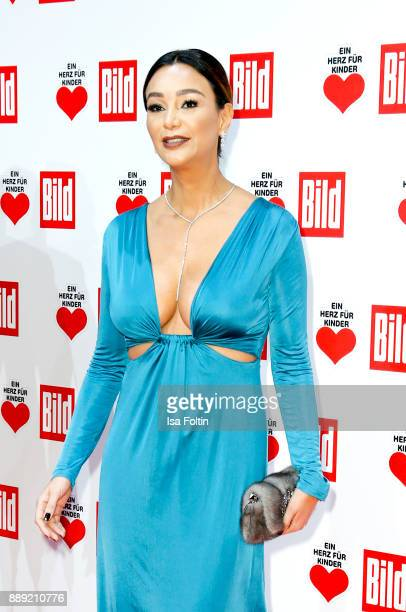 German presenter Verona Pooth attends the 'Ein Herz fuer Kinder Gala' at Studio Berlin Adlershof on December 9 2017 in Berlin Germany