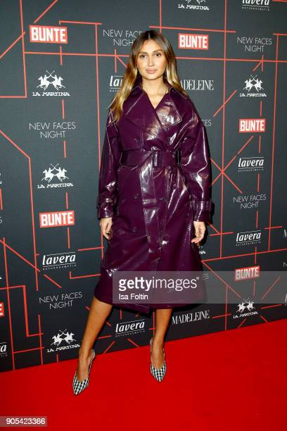 German presenter Wana Limar during the Bunte New Faces Night at Grace Hotel Zoo on January 15 2018 in Berlin Germany