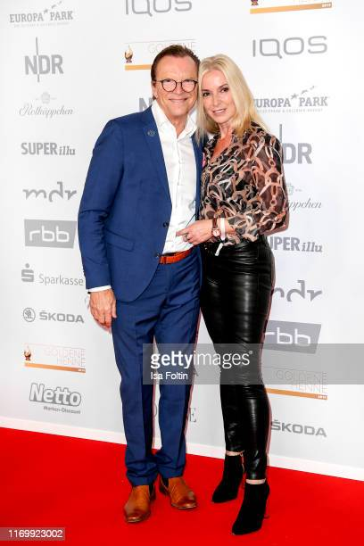German presenter Wolfgang Lippert and his wife Gesine Lippert attend the Goldene Henne at Messe Leipzig on September 20, 2019 in Leipzig, Germany.