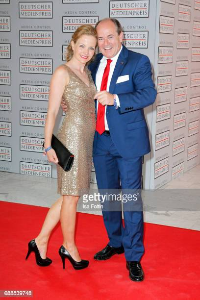 German presenter Wolfram Kons and his wife Alexa Apermann during the German Media Award 2016 at Kongresshaus on May 25 2017 in BadenBaden Germany The...