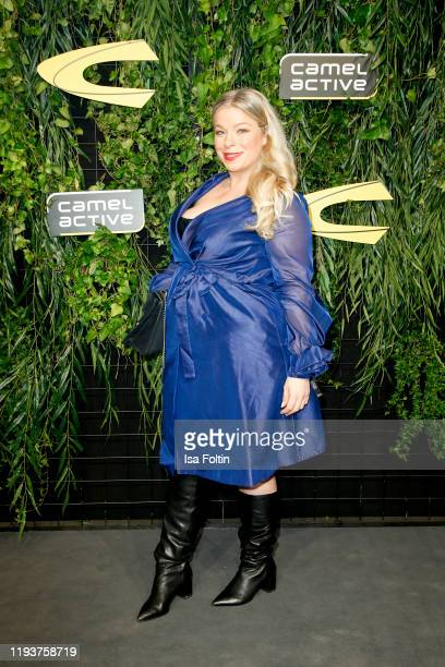 German presenter/model Caterina Pogorzelski at the Camel Active show during Berlin Fashion Week Autumn/Winter 2020 at Wriezener Karree on January 15...